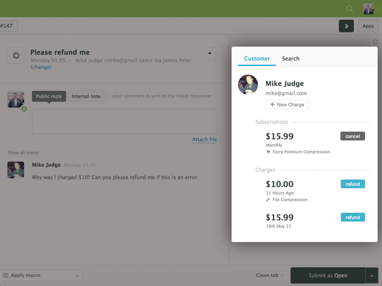 Integrate Zendesk With PayPal ChargeDesk - Invoice asap paypal